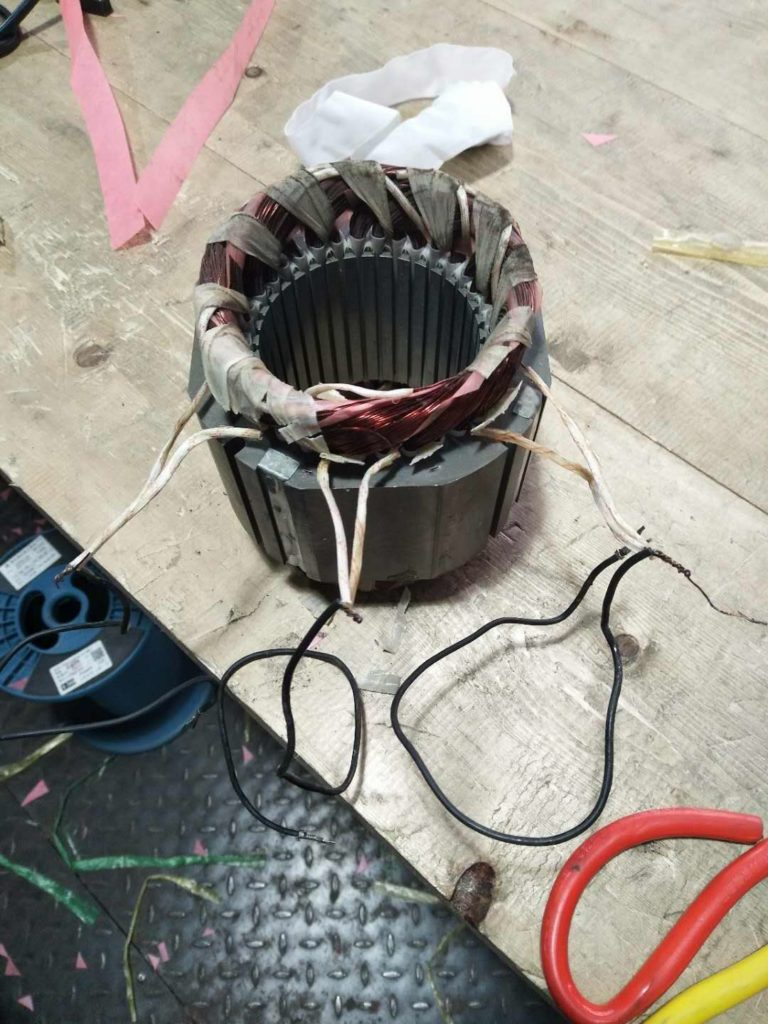 How to change the chain hoist motor coil